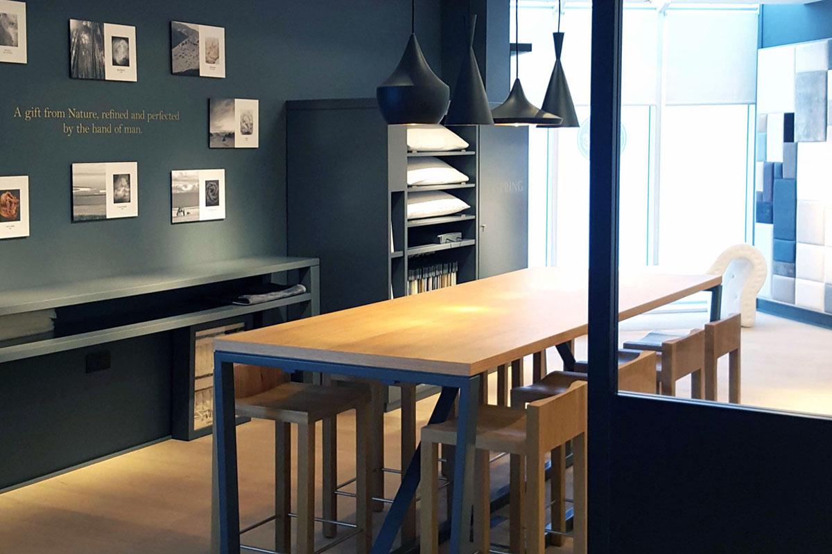 showroom maison de literie de luxe VISPRING