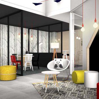Aménagement et décoration intérieure pour agence immobilière