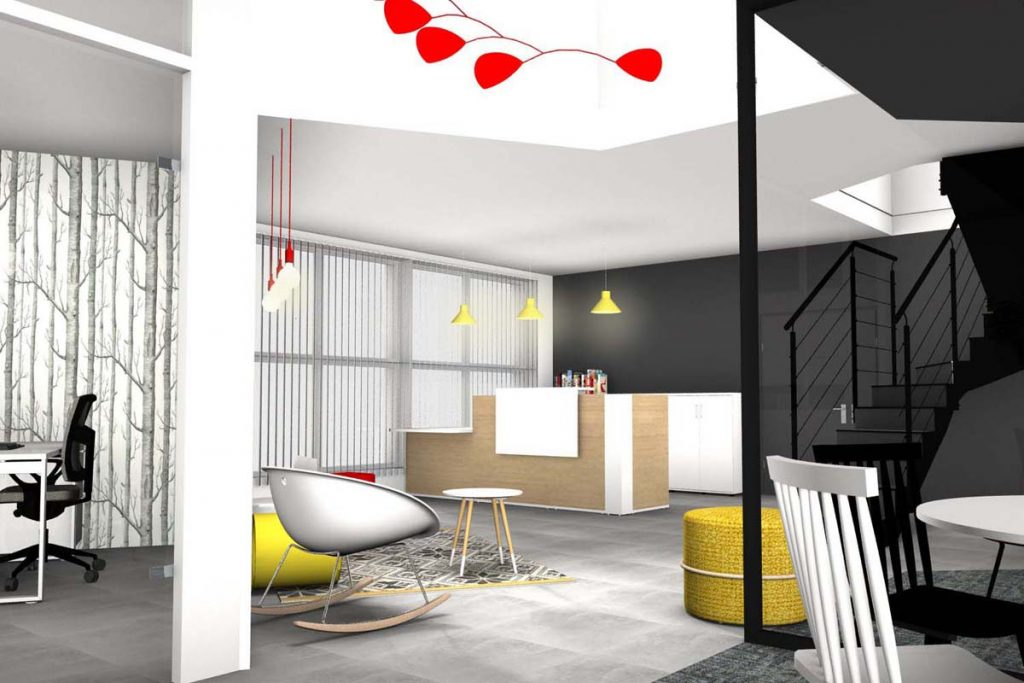 Décoration intérieure et aménagement intérieur pour agence immobilière