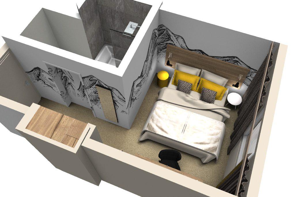 Décoration intérieure et aménagement | Hôtel de Crolles Ibis style