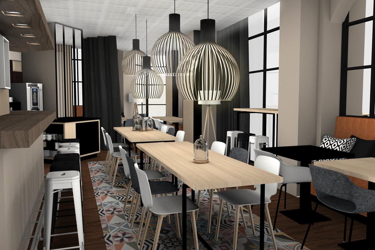 Aménagement et décoration intérieure du restaurant de l'hotel KYRIAD