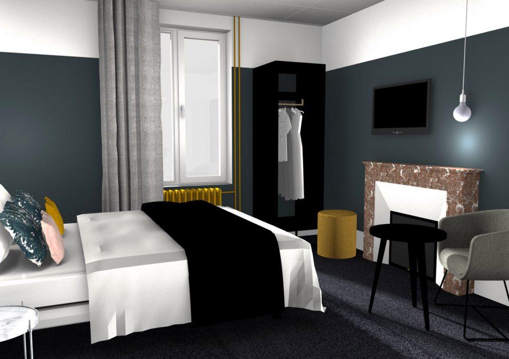 Décoration d'intérieur pour hôtel