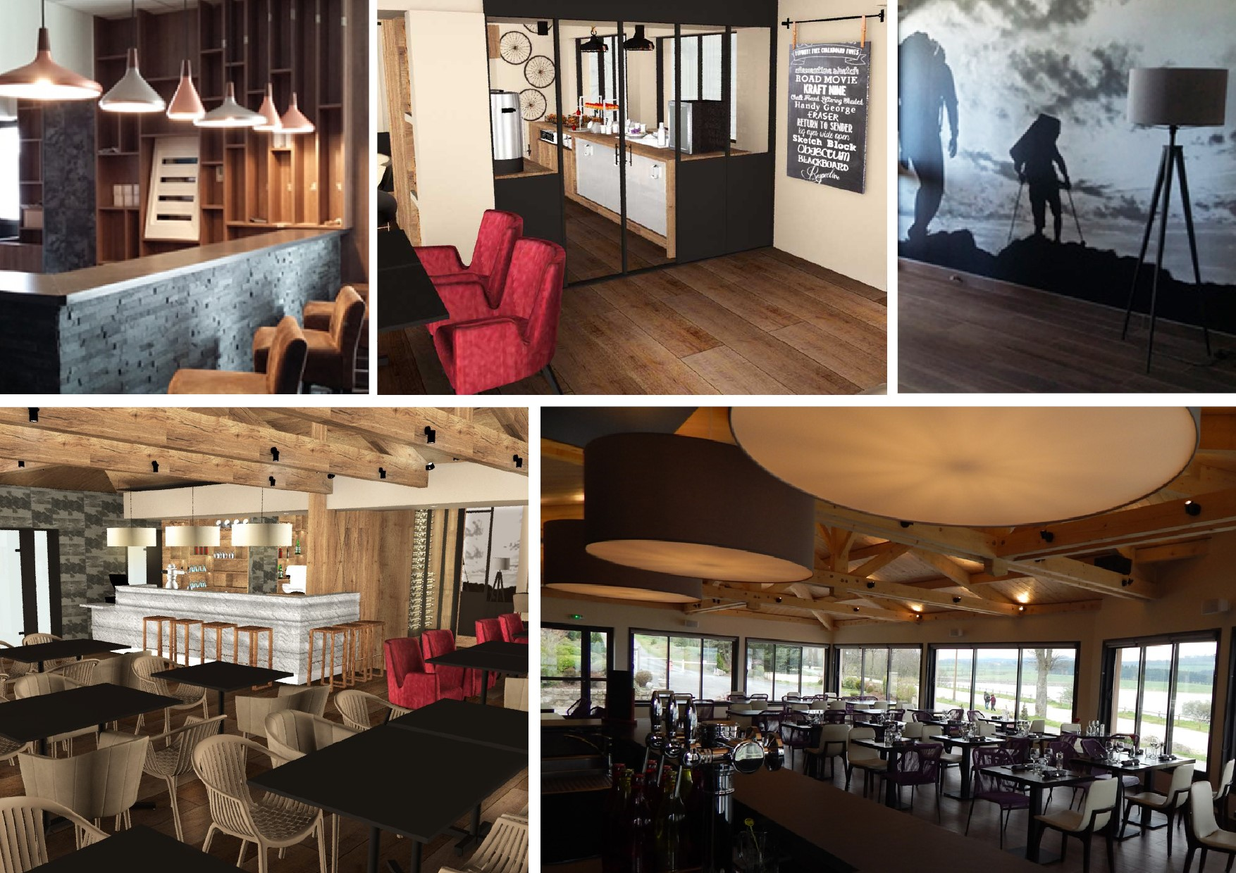"""agencement et décoration intérieur restaurant """"Le Tonnelier"""" - NAUSSAC"""